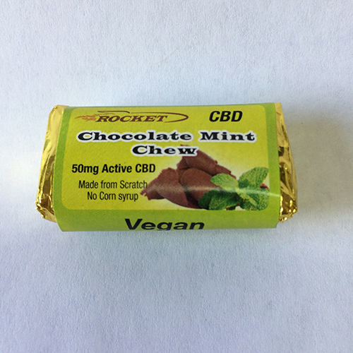 Rocket Chocolate Mint Chew Single (50 Mg)