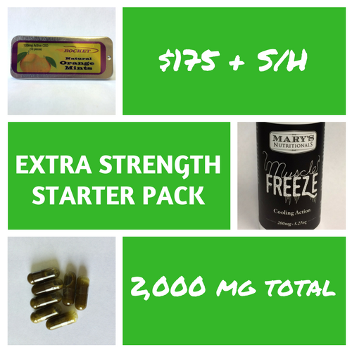 Extra Strength Whole Hemp Starter Pack (2,000 Mg Total)